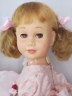 CHATTY CATHY Blonde SOFT FACE  Pigtail BROWN EYES TALKS FREE SHIPPING