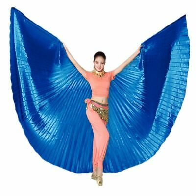 Adult Girl Egyptian Professional Ali Belly Dance Isis Wings+Bag+Sticks 13 colors