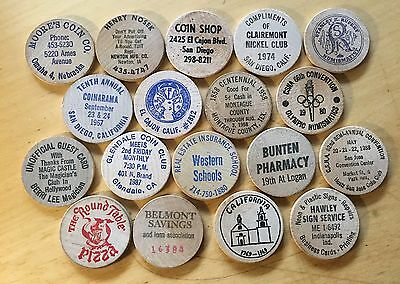 Lot Of 18 Wooden Nickels (Lot 3)