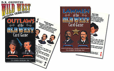 Playing Cards 2 decks - Lawmen, Outlaws of the Old West, high quality decks