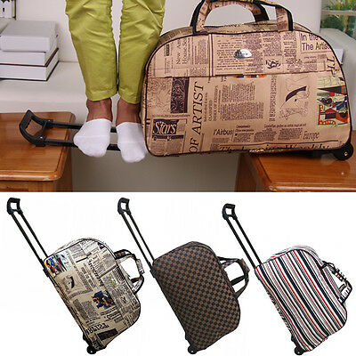 Wheeled Hand Luggage Trolley Small Flight Travel Bag Cabin Suitcase Holdall