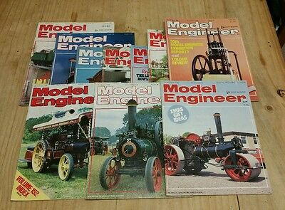 10 Model Engineer Magazines from the 1980's Same Day Shipping