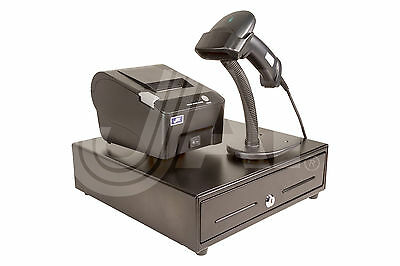 BUDGET COMBO-PRINTER USB 58mm 100mm Speed Logo Win 10+DRAWER 4B5C 13x13¼+SCANNER