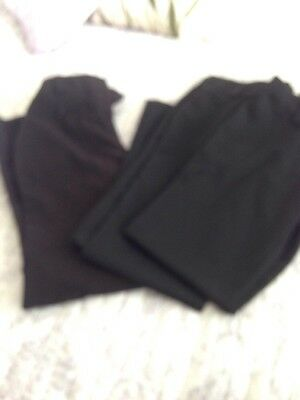 Three Pairs Of Girls Age 11 Black School Trousers (By Next))