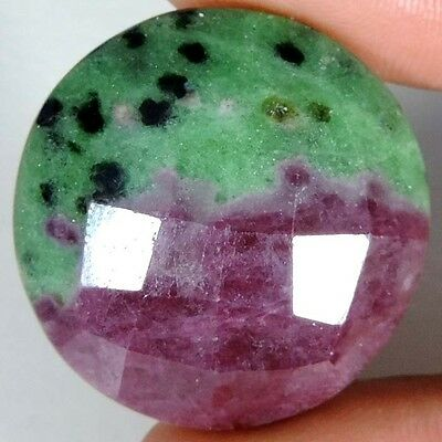 61.95Cts A+ GENUINE GREEN RED RUBY ZOISITE FANCY CHECKER CUT UNTREATED GEMSTONES