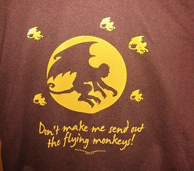 Don't Make me send out the Flying Monkeys! Brown or Black Sweat Shirt New