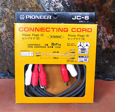 Pioneer Jc-6   Connecting Cord. New. Ct-F, Rt, Ct.