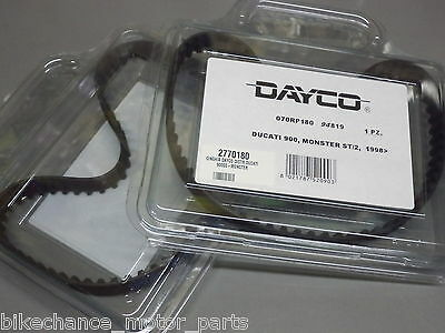 2 cinghie distribuzione Dayco Ducati monster SS 900 paso 906 907 ST2 944