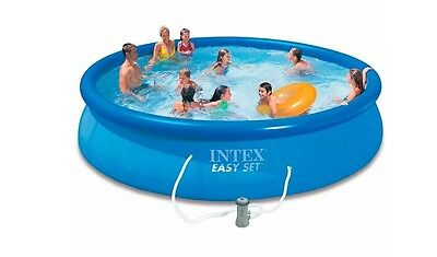 Intex Pool above ground inflatable ring round 457x84cm + filter pump 28158NP