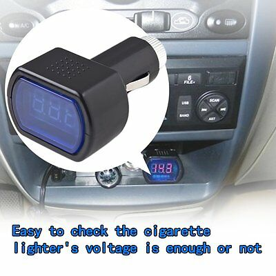 New LED Display Cigarette Lighter Electric Voltage Meter For Auto Car Battery!~