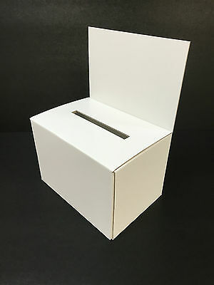 1 x A4 GLOSS WHITE CARDBOARD COMPETITION BALLOT ENTRY FORM BOX COUNTER DISPLAY