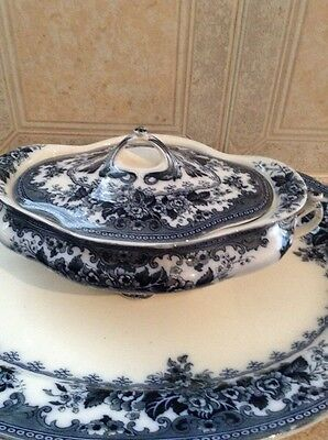 Early 20Th Century Keeling&Co Late Mayers Blue & White Colwyn Tureen