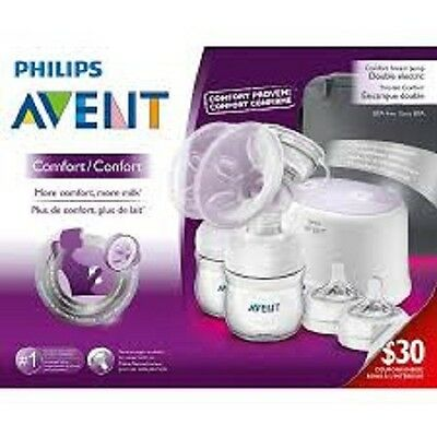BRAND NEW !!!! Philips Avent Single Electric Comfort Breast Pump, 5 pc.