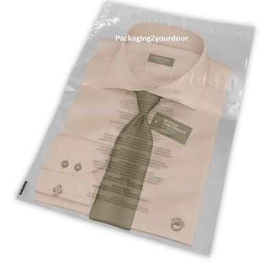 "Clear T-Shirt Garment Bags 10 x 12""  254 x 305mm + Lip (38mu Choose Qty"