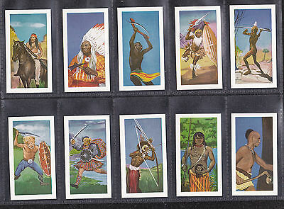1962 Reddings Tea, Warriors Of The World Full Set Of Tea Cards 1St Series Mint