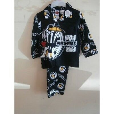 Collingwood Magpies Official AFL Winter Pyjamas (sz 3-5)