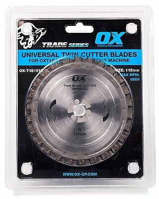 OX OXT10 115mm Twin Blade Cutting Machine TCT & Dia Blades & Upgrade Accessories
