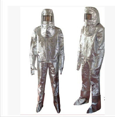 Thermal Radiation 500 Degree Heat Resistant Aluminized Suit Fireproof Clothes a