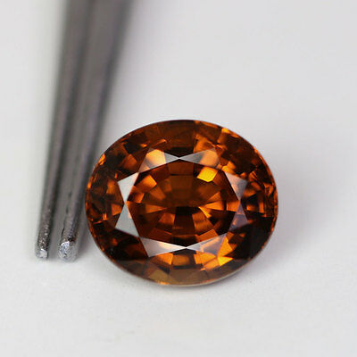 2.43 Cts - Oval Cut - Golden Brown - Africa Natural - Grossular - Ag172