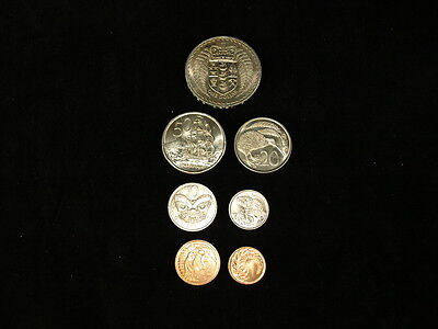 New Zealand 1967 First Minted Year Uncirculated 7 Coin Mint Set