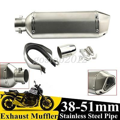 NEW 38-51mm Motorcycle Stainless Steel Exhaust Muffler Pipe System &DB Killer