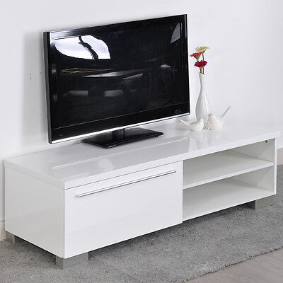 Modern TV Unit TV Cabinet 1 Big drawers 120cm High gloss fronts LED TV Stand