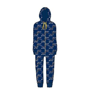 West Coast Eagles Childrens Microfleece Hooded Onesie AFL Official Genuine