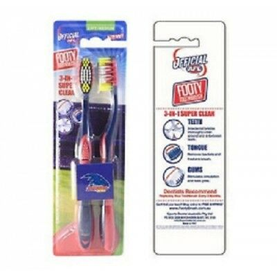 Adelaide Crows Official AFL Toothbrush Twin Pack
