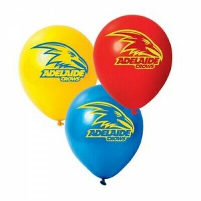 Adelaide Crows Official AFL Pkt 25 Balloons Double Sided Print