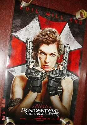 Resident Evil: The  Final Chapter  27 X 40 Ds Poster Double Sided