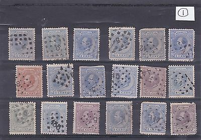 Netherlands Stamps King William III used  No.1 1867 - 1891 Numbered Post Marked