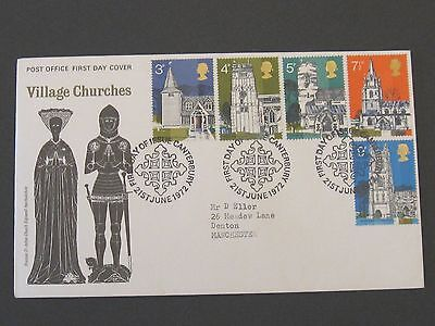 First Day Cover – Village Churches 1972