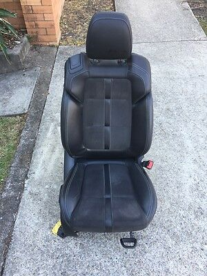 VF SS Driver Seat. Leather Suede Holden Commodore UTE