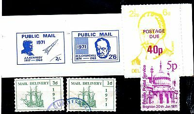 Stamps From Great Britain,postal Strike  1971.,