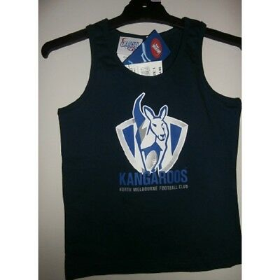 Nth Melbourne Kangas Official AFL Boys Cotton Underwear Singlet FREE POSTAGE