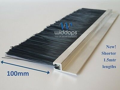 1.5mtrs Brush Seal Strip - Heavy Duty Draught Excluder - Door Seal - 100mm