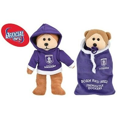 Franky the Fremantle Dockers Bear 2015 - Official AFL Beanie Kid