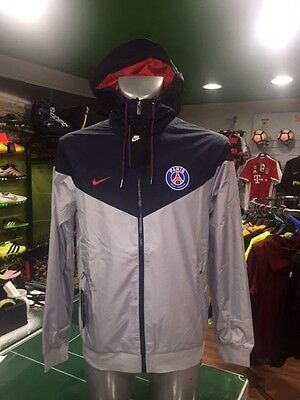 Giacca Vento Calcio Jacket Authentic Windrunner Nike Psg Paris Wolf Grey 2017