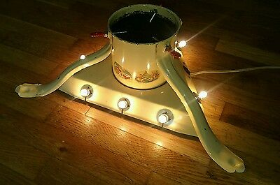 Antique/Vintage Christmas Tree Stand Lighted