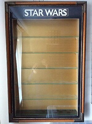 Star Wars Vintage action figure wall display case COLLECTION ONLY