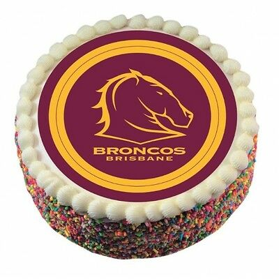 Brisbane Broncos Edible Icing Cake Topper NRL Official Birthday Party
