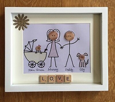Personalised Family Button Picture Special Occasion Gift