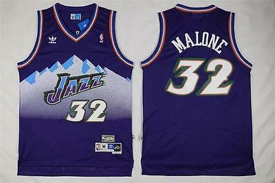 Karl Malone Utah Jazz Throwback Swingman Purple Jersey