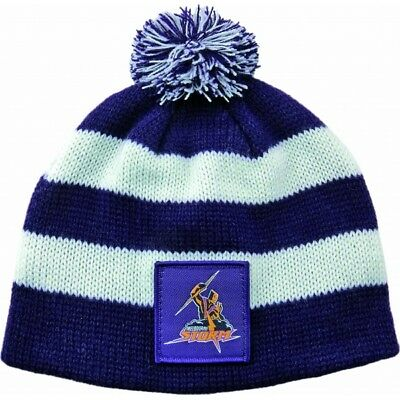 Melbourne Storm Official NRL Chunky Knit Baby Infant Beanie