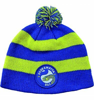 Parramatta Eels Official NRL Chunky Knit Baby Infant Beanie