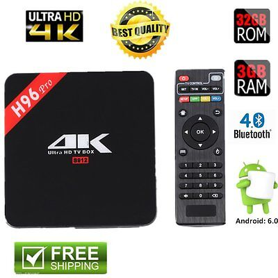 H96Pro 3G+16G Amlogic S912 Octa Core ARM Cortex-A53 CPU TV Box For Android 6.0 @