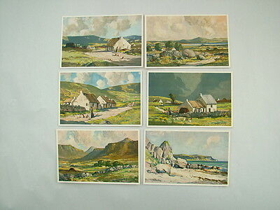 Six postcards reproduction of Ireland paintings by Maurice Wilkes