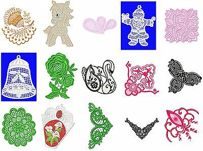 Machine Embroidery Designs Lace Vol. 1 35 full sets PES format