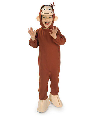 Deluxe Child Boys Curious George Monkey Suit Costume Toddlers 2-4