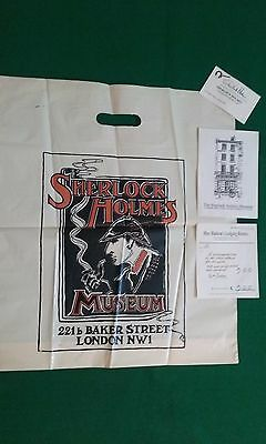 Sherlock Holmes Business Card and Plastic Bag, From The Sherlock Holmes Museum